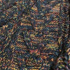 Faded Glory Sweaters - Multicolored cable knit sweater jumper rainbow